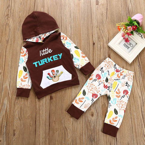 $15.09- Christmas Pajamas Dress For Baby Girls Kids Boy Vestidos Thanksgiving Newborn Girl Outfits Clothes Print Tshirt Topspants Set