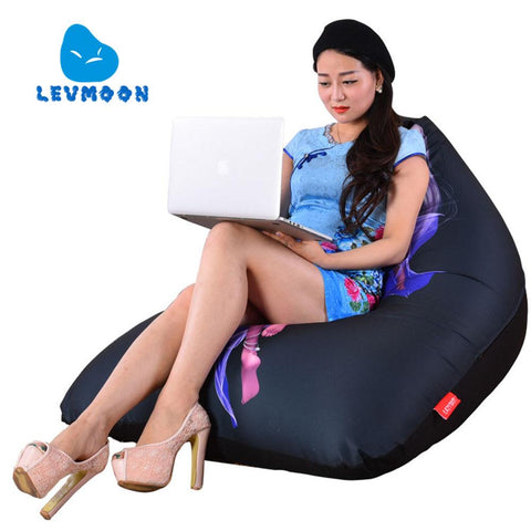 Levmoon Beanbag Sofa Chair Fairy Beauty Seat Zac Comfort Bean Bag Bed Cover W/out Filler Cotton Indoor Beanbag Lounge Chair