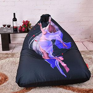 $79.20- Levmoon Beanbag Sofa Chair Fairy Beauty Seat Zac Comfort Bean Bag Bed Cover W/out Filler Cotton Indoor Beanbag Lounge Chair