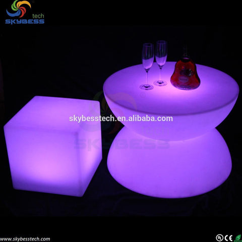 $738.00- led glowing table / led tv stand furniture/ led pub table SKLF16B D66*H44cm free shipping 1pc