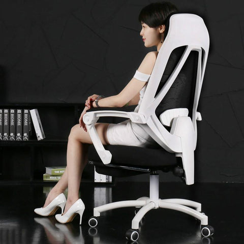 $614.70- Mesh Lift Home Computer Gaming Chair Ergonomic Chair W/ Footrest Reclining Swivel Boss Office Armchair 170 Degree Lying Seat