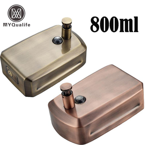 $53.06- Antique Bronze Bathroom Wall Mount Soap Dispenser 800Ml Liquid Hand Soap Dispense