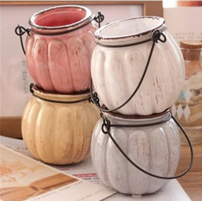 $13.66- Hot New Zakka Vintage Ceramic Pumpkin Vase Min Pumpkin Vases For Home Decoration Home Decoration Accessories