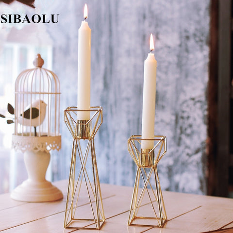 Wedding Candelabra Centerpieces Center Table Candlesticks Parties Decor Candle Lantern Gold Candle Holders Candle Stick Stand