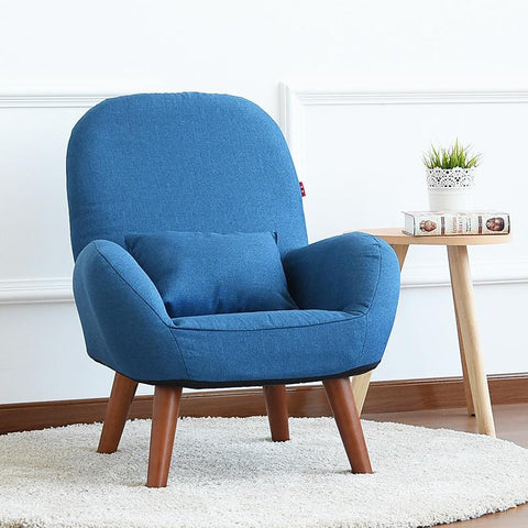 $224.49- Japanese Low Sofa Armchair Upholstery Fabric Wood Legs Living Room Furniture Modern Relax Decorative Accent Arm Chair Design