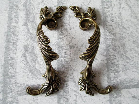 "$9.03- 3.75"" Dresser Pull Drawer Handles Cabinet Door Handle Furniture Pulls Antique Silver Bronze Shabby Chic Decorative Hardware"