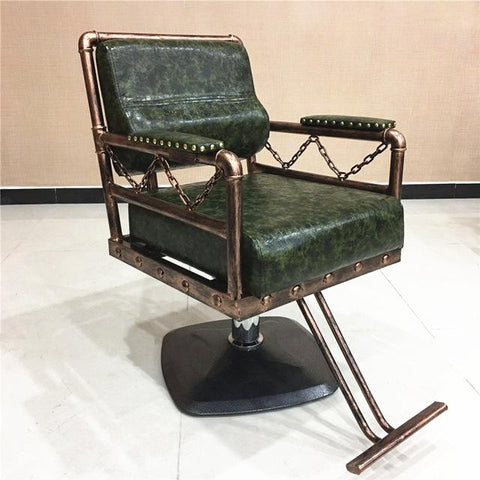 The New Wrought Iron Hairdressing Chair. Hair Salons Haircut Chair. Retro Hairdressing Chair Hairdressing Equipment
