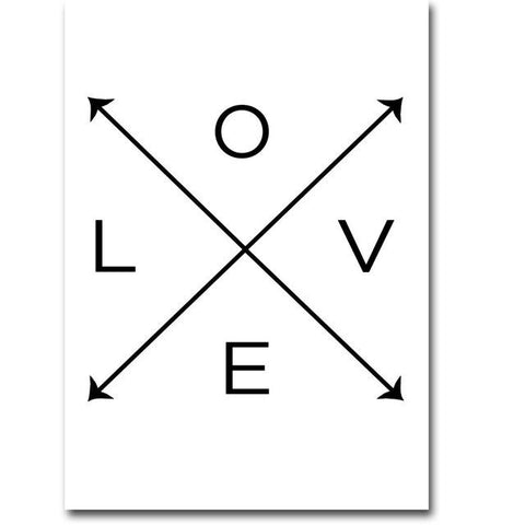 $7.84- Nicoleshenting Nordic Art Smile Love Quote Art Canvas Poster Minimalist Print Motivational Wall Picture Home Room Decoration