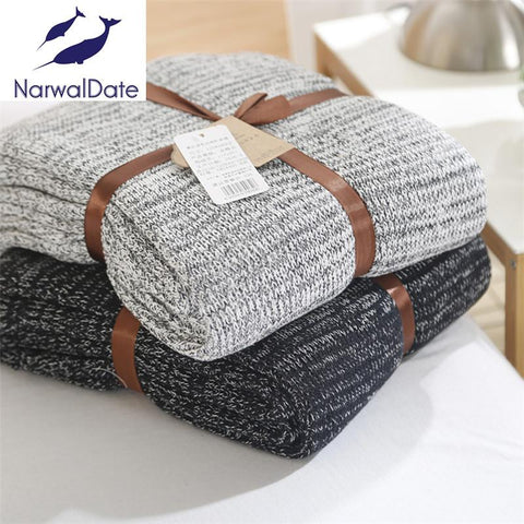 120*180cm Knitted Blankets Spring Sofa Cover Bed Cover Throw Soft Bed Handmade Crochet AntiPilling Portable Blanket for Autum