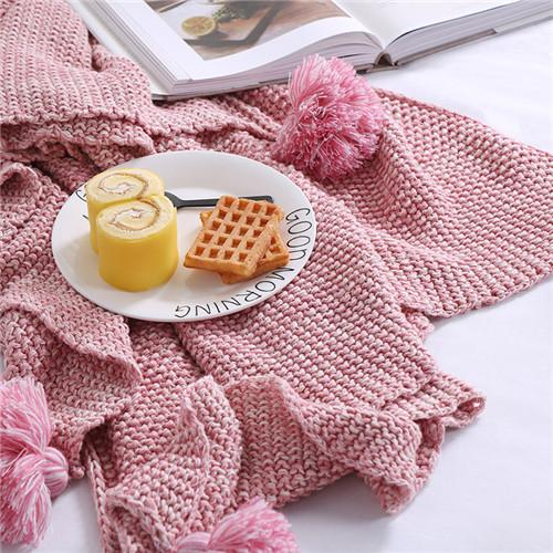 $82.44- 1Pcs Kids Baby Blanket Solid Color Crochet Tassel Blanket Knitted Soft Throw Blankets On Sofa/Bed/Plane Travel Air Conditioning