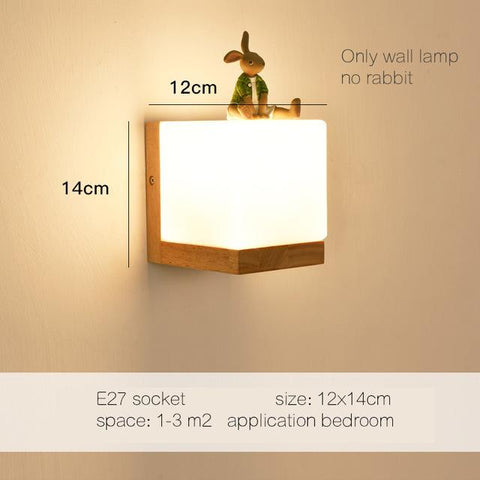 $63.54- Dx Modern Wood Wall Lights Bedroom Wall Lamp Hallway Wandlamp Bed Light Nordic Home Lighting Sconce Vintage Wall Lamp