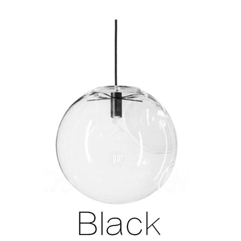 $46.17- Bdbqbl Nordic Pendant Lights Globe Chrome Lamp Glass Ball Pendant Lamp Lustre Suspension Kitchen Light Fixture E27 Home Lighting