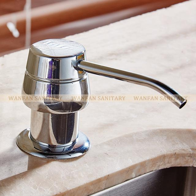 Liquid Soap Dispensers 250Ml Brushed Nickel Stainless Steel Kitchen Sink Bottle Liquid Soap Dispenser W/ Pump 2303