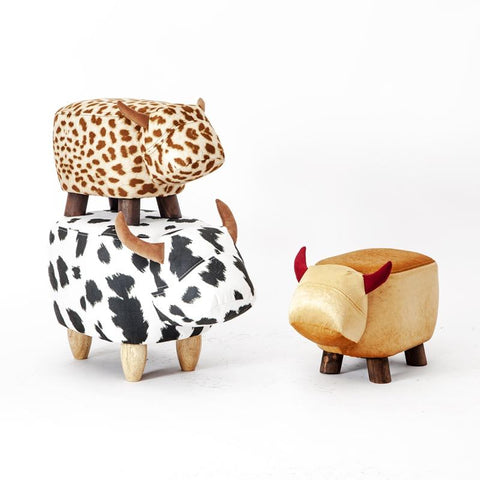 Special Offer Real Chinese Porcelain Pouf Poire Cattle Stool Children Shoes Bench Animal Cow Bag Wooden Modern