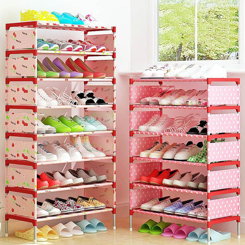 $28.49- Multi Layer Shoe Rack Nonwovens Easy to install Shoe cabinet Shelf Storage Organizer Stand Holder Space Saving Furniture