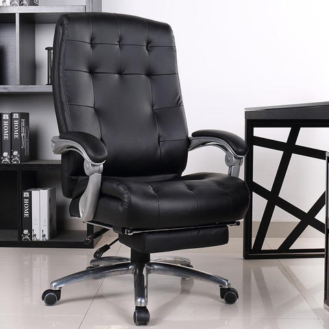 $1118.46- Comfortable luxury genuine leather chair leisure home 170 degree lying office computer chair rotating lifting boss chair