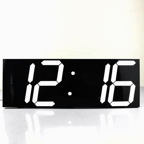 $118.98- Large Digital Wall Clock Modern Design Wall Watch Timer Countdown Calendar Temperature Weather Station Home Decor Nixie Clock