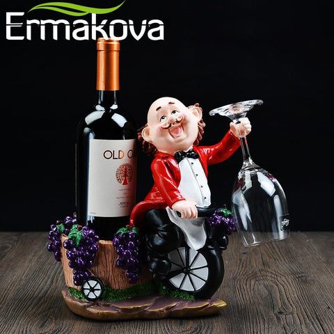 $63.14- Ermakova Resin Chef Wine Rack/Stand Cook Wine Bottle Holder Home Beer Ornaments Shelf Crafts Rack Shelf For Party