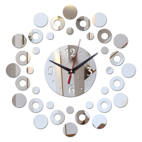 Hot New Arrival Hot Mirror 3D Acrylic Clock Watch Wall Clocks Home Decor Quartz Living Room Needle