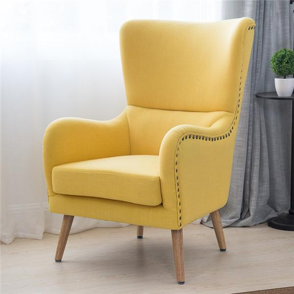 Buy Midcentury Modern Wingback Chair In Twotoned For Living Room