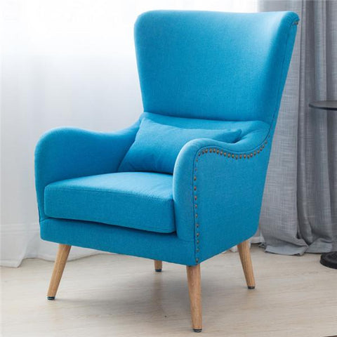 $512.58- MidCentury Modern Wingback Chair in TwoToned For Living Room Bedroom Furniture Armchair Accent Chair HiBack Studded Chair