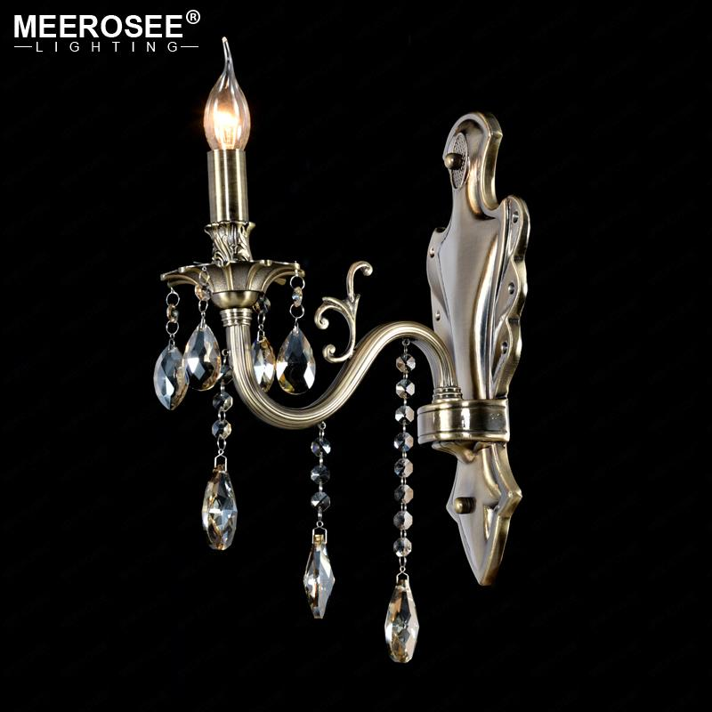 $95.71- Crystal Wall Light Lustres Wall Sconces Lamp Bedroom Wall Brackets Lighting Fixture For Bedroom Living Room 100%