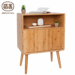$661.18- Zen'S Bamboo Cabinet Sideboard Assemble Living Room Cabinet Storage Nightside Home Furniture