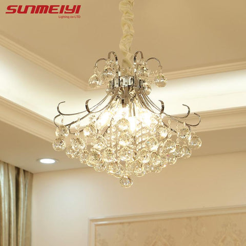 Luxury Crystal Chandelier Living Room Lamp lustres de cristal indoor Lights Crystal Pendants For Chandeliers shipping