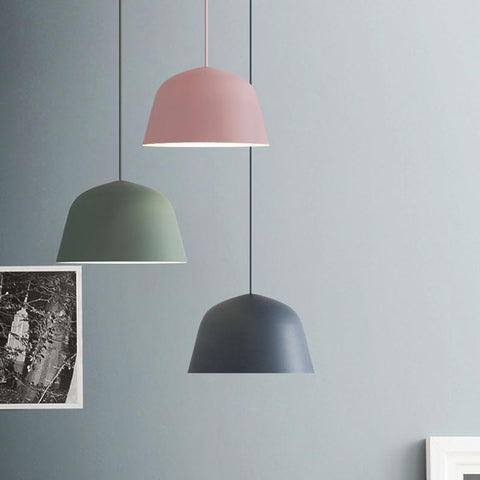 $48.60- Colored Nordic Aluminum Pendant Light Modern Simplicity Pendant Lamp For Living Room Bar Restaurant Foyer Dining Room Lighting