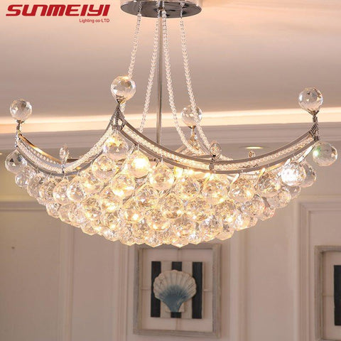 $238.09- New Style Crystal Chandelier Lighting Fixture Crystal Light Lustres de cristal for Living Room Ceiling Lamp