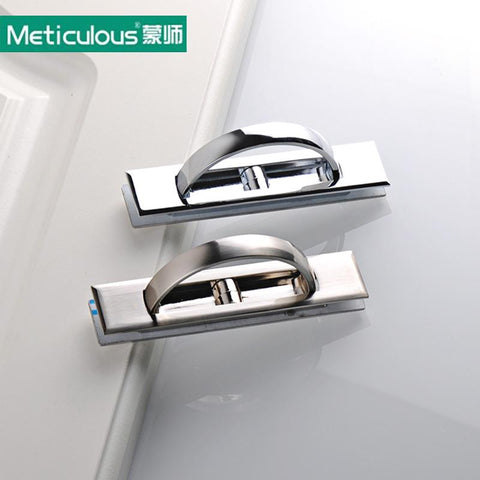 Meticulous Furniture hidden Recessed Flush Pull Cover floor cabinet brush and bright chrome Handle Tatami Door Knobneed slotted