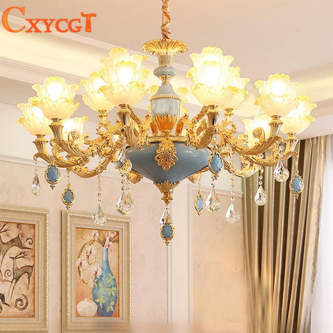 $497.41- Modern Gold Crystal Ceiling Chandelier Lighting for Living Room Bedroom Wedding Decoration Lamp Lotus Hanging Suspension Lamp