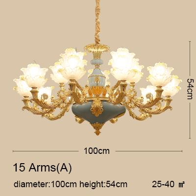 Modern Gold Crystal Ceiling Chandelier Lighting for Living Room Bedroom Wedding Decoration Lamp Lotus Hanging Suspension Lamp
