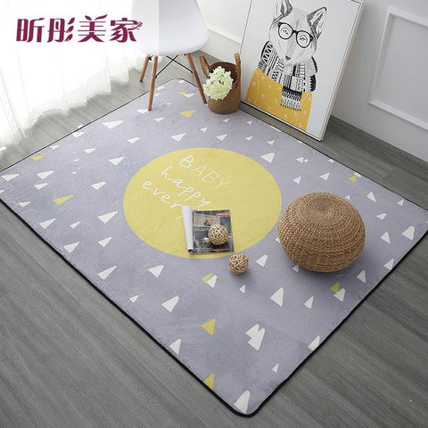 $69.30- 120X180Cm Nordic Style Carpets For Living Room Home Bedroom Rugs Carpets Coffee Table Brief Area Rug Kids Play Mat