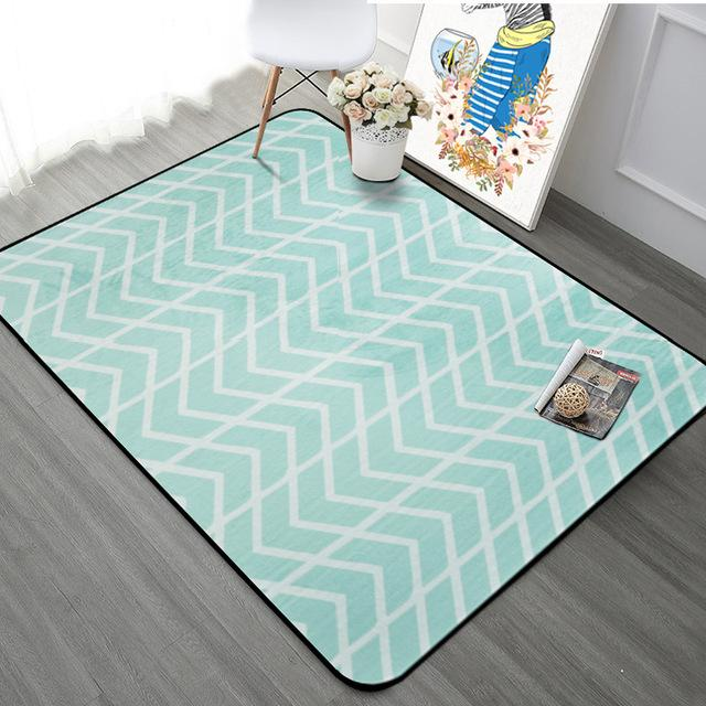 $61.74- Nordic Simple Carpets For Living Room Home Bedroom Rugs Carpets Fashion Music Floor Mat Coffee Table Area Rug Soft Velvet