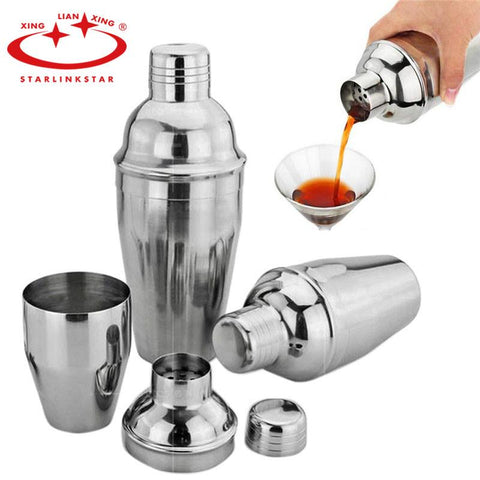 $9.42- 1Pcs 250Ml / 350Ml / Stainless Steel Food Grade Wine Shaker Cocktail Martini Mixer For Barware Bar Party Drink Home