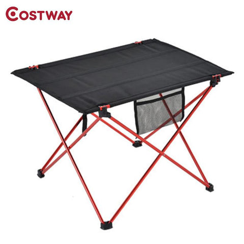 $41.74- Costway Outdoor Ultralight Aluminum Alloy Portable Folding Table Picnic Table Tea Table Camping Barbecue Square Table Ot0100