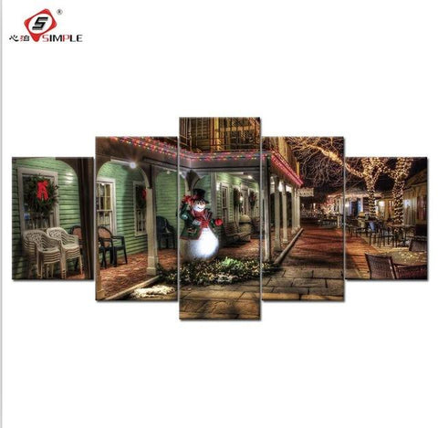 $24.01- 5 Pieces Modular Wall Paintings Landscape Posters Prints Canvas Wall Art Picture For Living Room Cuadros Home Decor No Frame