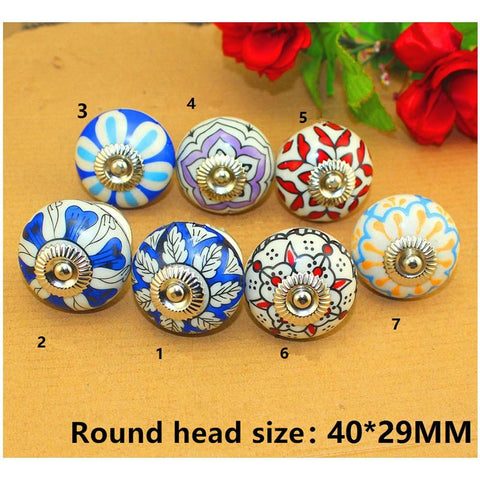 $5.83- Vintage Furniture Handle Flower Ceramic Knobs and Handles Door Handle Cupboard Drawer Kitchen Pull Knob Furniture Hardware1PC