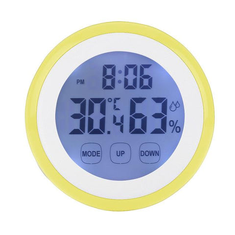 $16.13- Hot Plastic Digital Temperature Humidity Time Function Wall Clock Indoor Weather Station Meter Tester Lcd Backlight Clocks