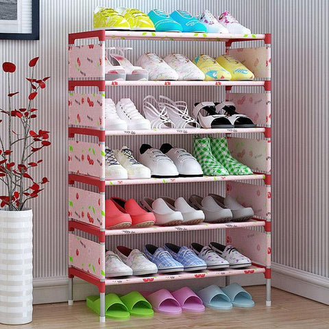 $39.91- COSTWAY Nonwoven 5 Tier Shoes Rack Shoe Cabinets Stand Shelf Shoes Organizer Living Room Bedroom Storage Furniture W0112