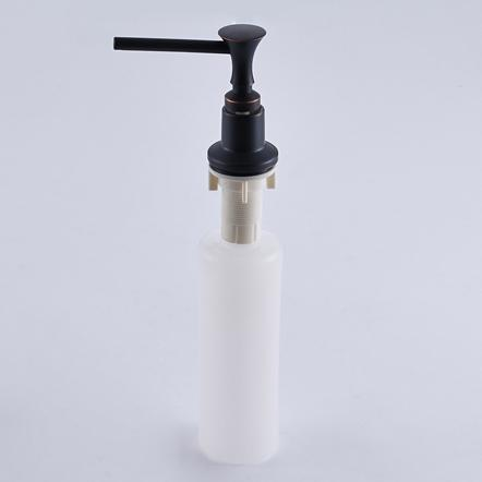 and Oil Rubbed Bronze Kitchen Sink Soap Dispenser Solid Brass and ABS Plastic Bottle