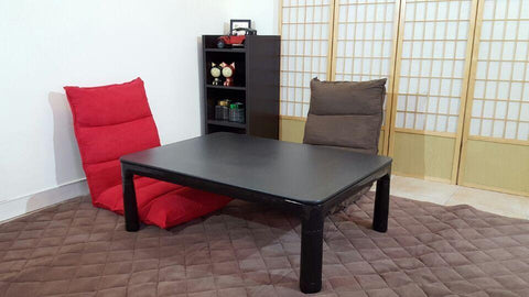 $410.85- Legs Foldable Kotatsu Table Rectangle 105X75Cm Living Room Furniture Foot Warmer Heated Low Japanese Kotatsu Coffee Table Black