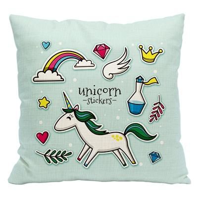 Urijk 1Pc Unicorn Flamingo Cushion Cover Tropical Printed Cartoon Throw Pillows Square Decorative Home Pillow Cover For Children