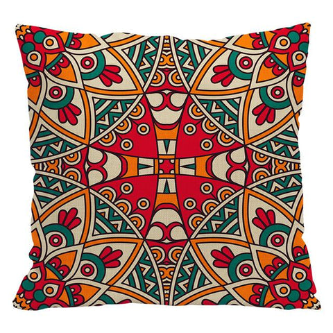 $6.92- Urijk 1Pc Fashion Christmas Decorations For Home Pillow Ethnic India Style Printed Cushion Cover For Sofa Square Throw Pillows