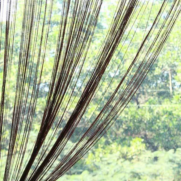 12Colors 2*1M String Curtain For Living Room Window Door Curtain Thread Yarn Strip Tassel Drape Room Divider Home Decor
