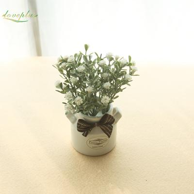 $9.01- Zinmol Artificial Baby'S Breath Flower Plastic Plant Cute Fake Bonsai Table Decor For Wedding Home Hotel Party Decorations