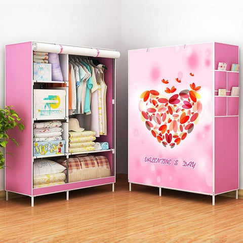 $79.74- New Fashion Modern Wardrobe Nonwoven Fabric frame reinforcement DIY Assembly Storage Organizer Detachable Clothing furniture