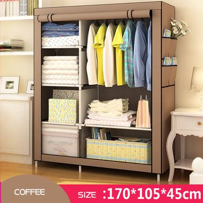 $85.37- New Fashion Modern Wardrobe Nonwoven Fabric frame reinforcement DIY Assembly Storage Organizer Detachable Clothing furniture