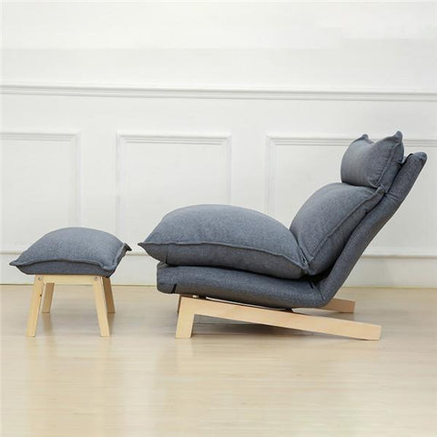 Contemporary Folding Lazy Sofa Chair Japanese Style Foldable Sofa Living Room Furniture Multi Function Chaise Lounge Chair